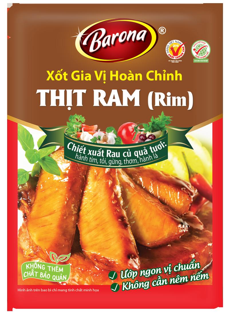 Xốt Gia Vị Hoàn Chỉnh Barona - Thịt Ram/Rim